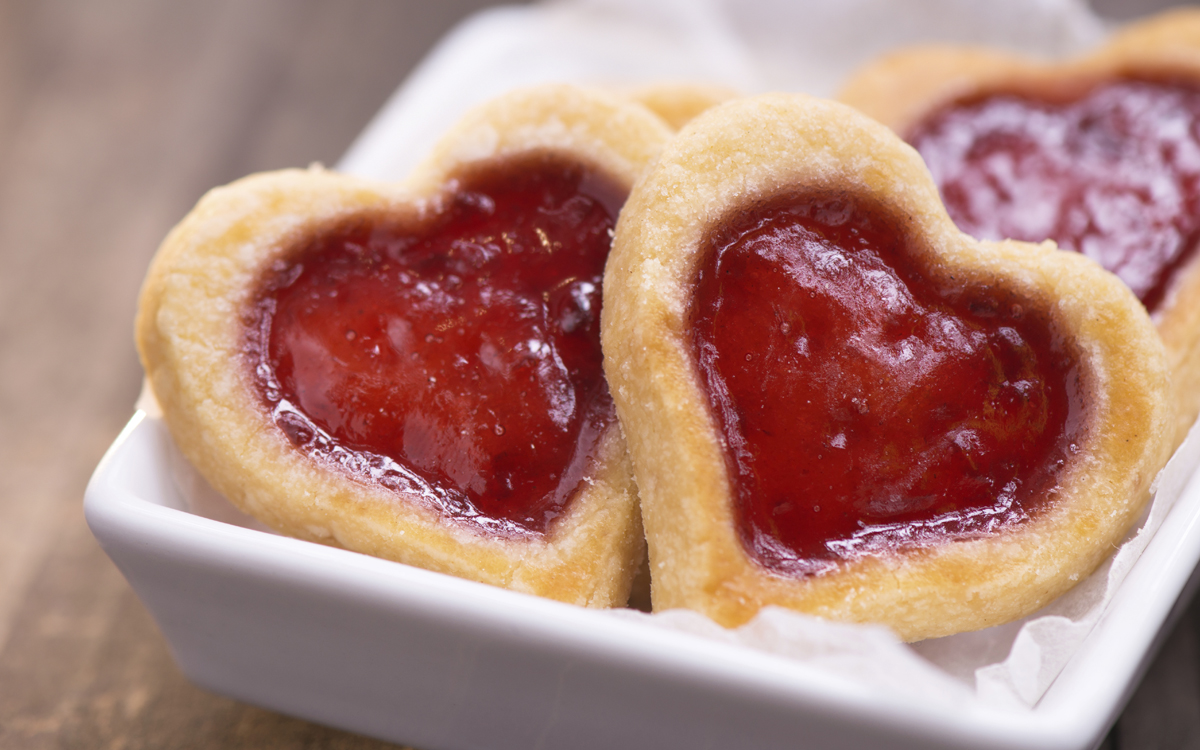 Galletas con corazón para San Valentín