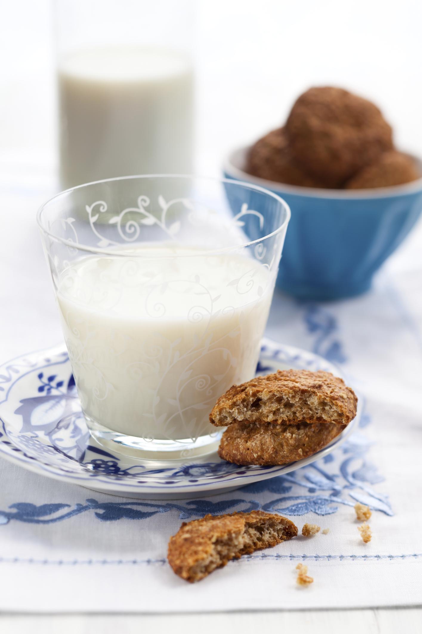 Galletitas de avena con leche