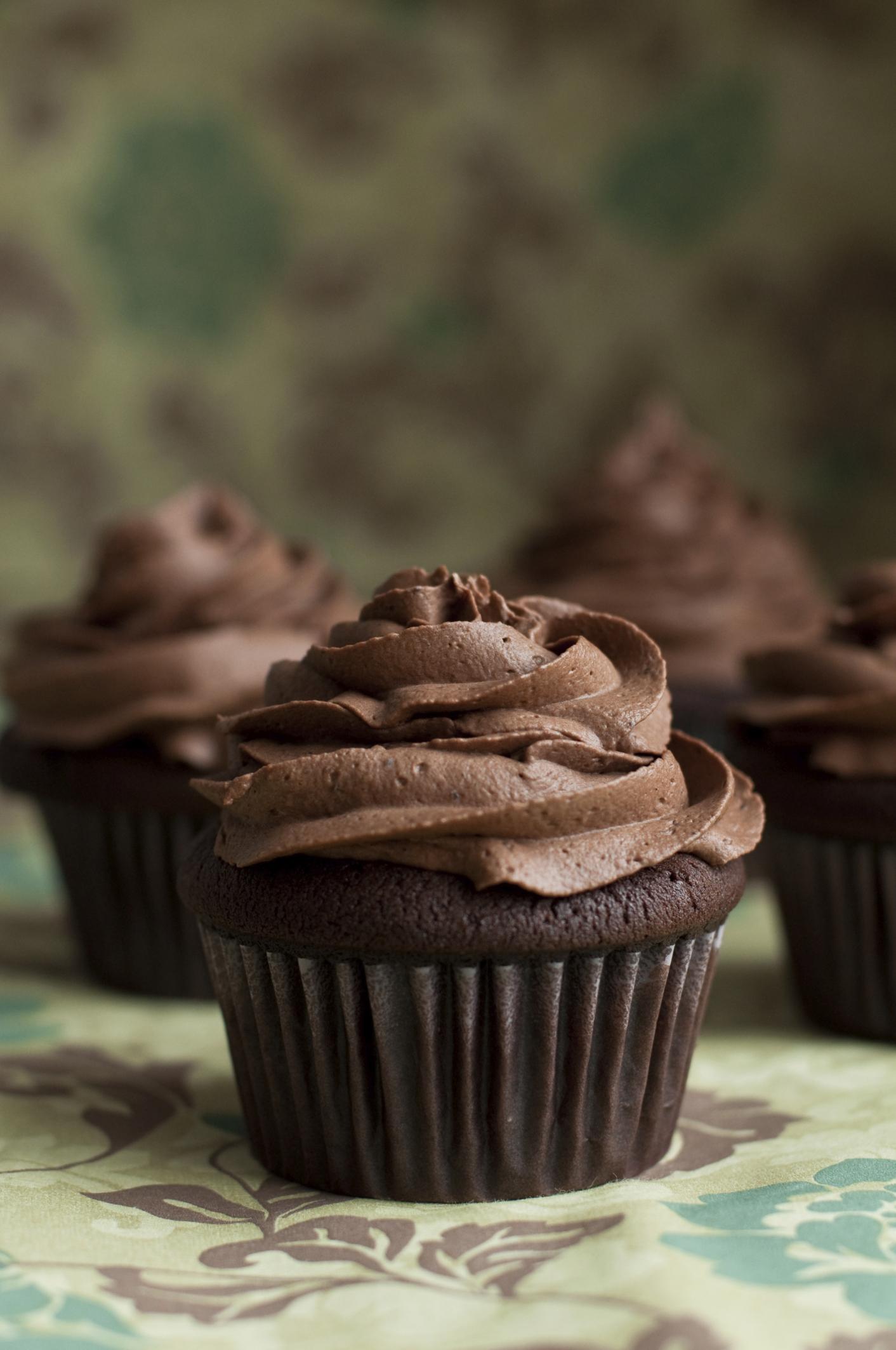 Ganache de chocolate para cupcakes