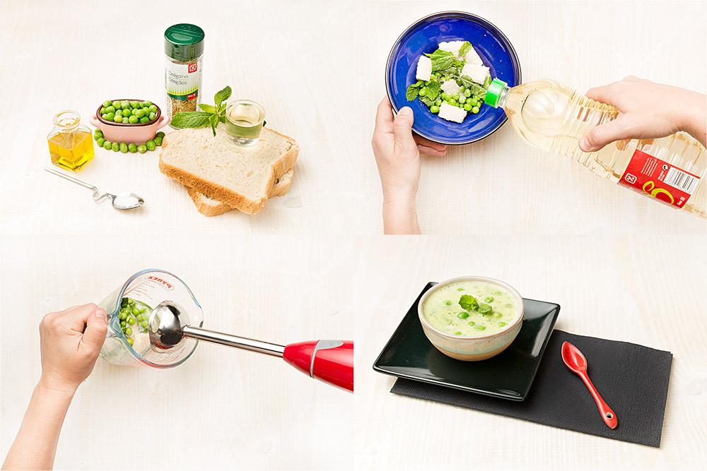 Gazpacho verde de guisantes