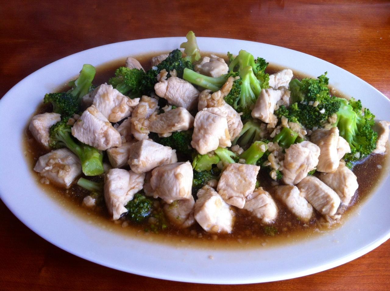 Pollo al ajo estilo Thai