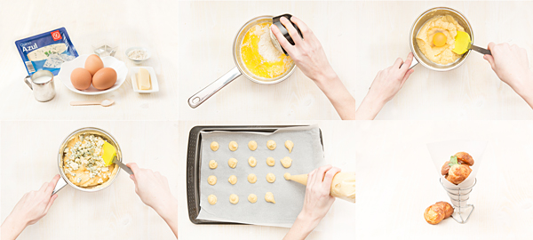 Gougères de queso azul