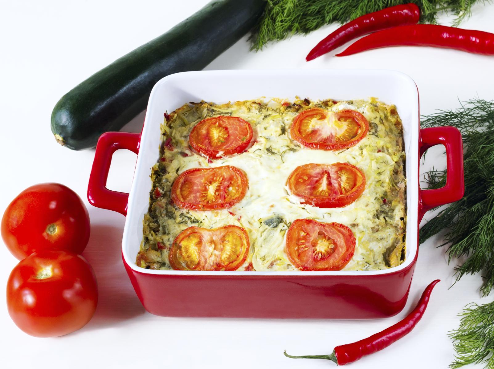 Gratinado de calabacines y tomates