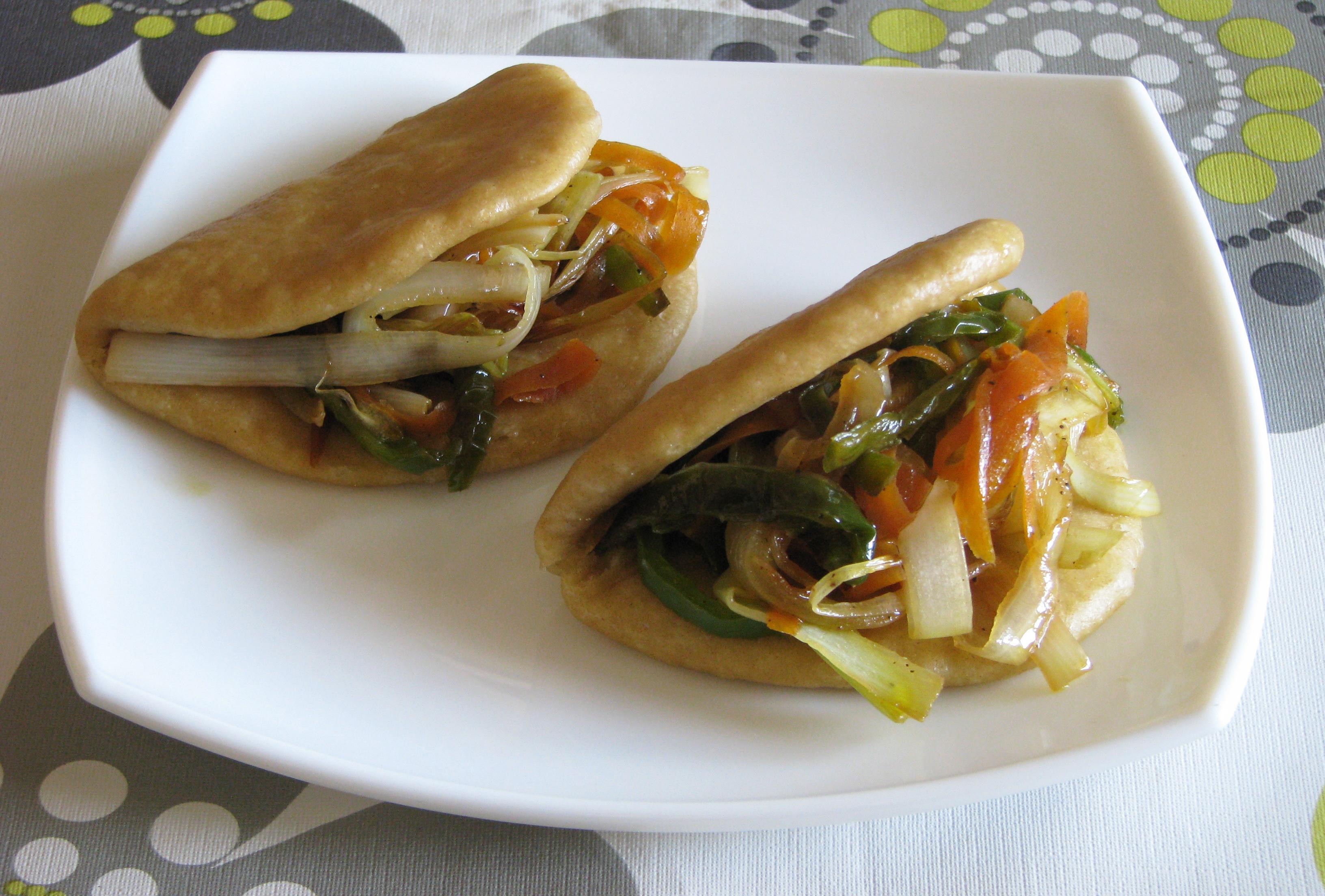 Gua Bao de verduras
