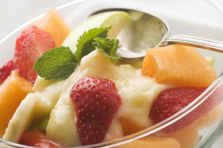Helado de frutas de Agosto