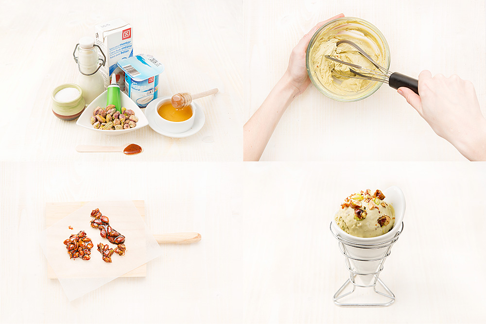 Helado de pistacho y yogur