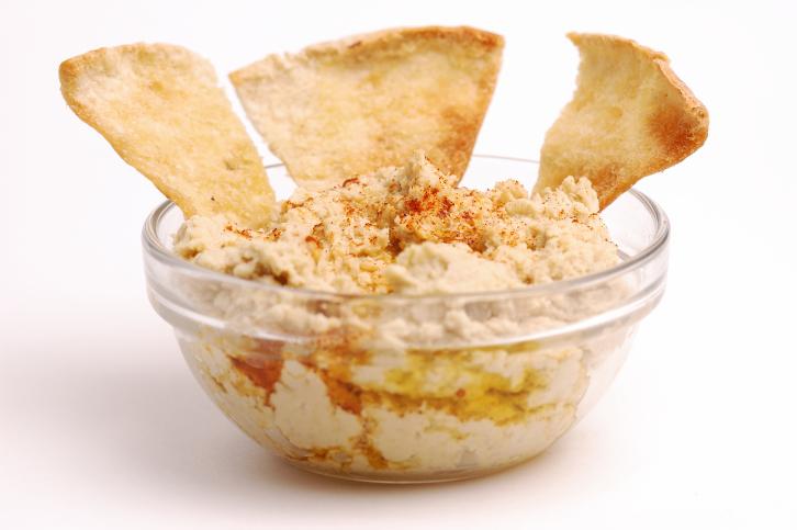 Hummus con crocantes