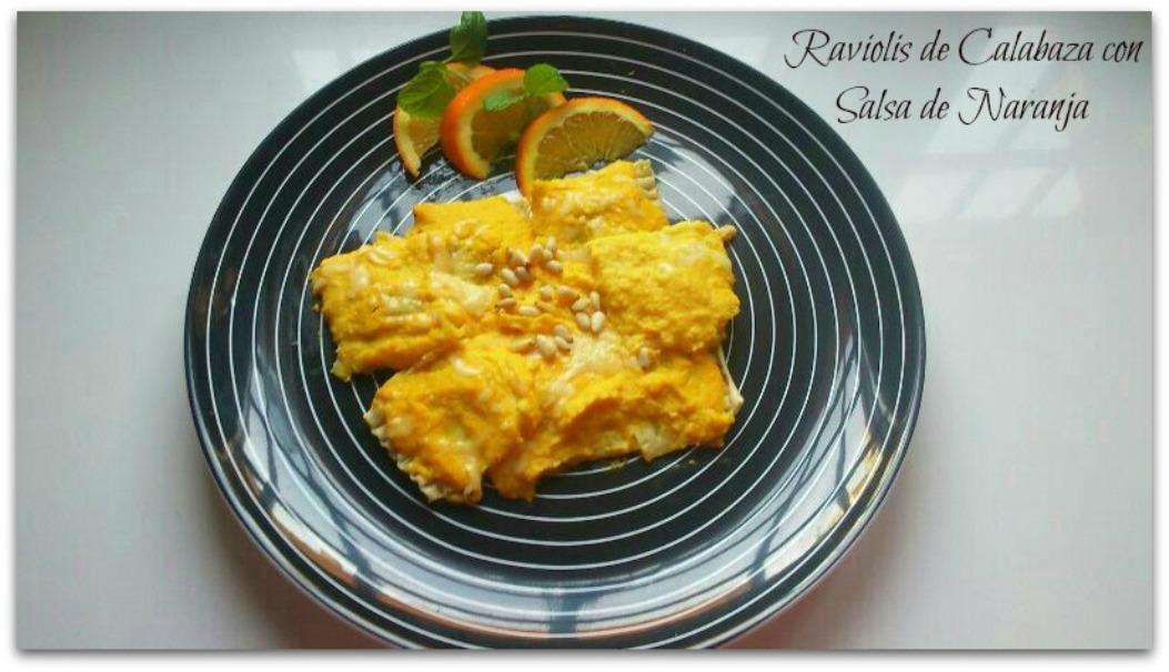 Raviolis de Calabaza con Salsa de Naranja