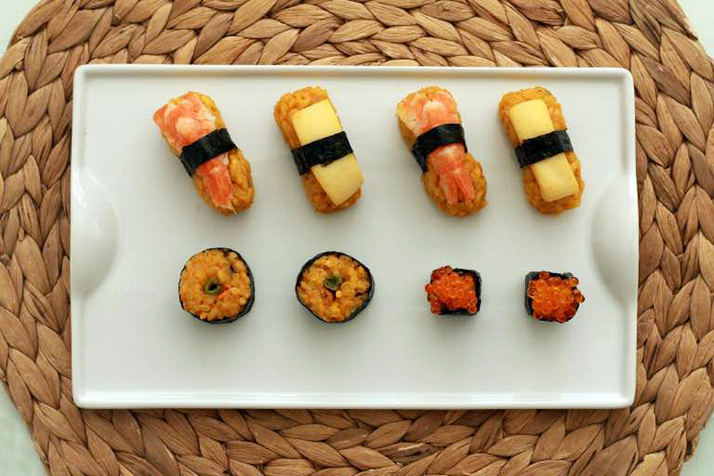Sushi de paella