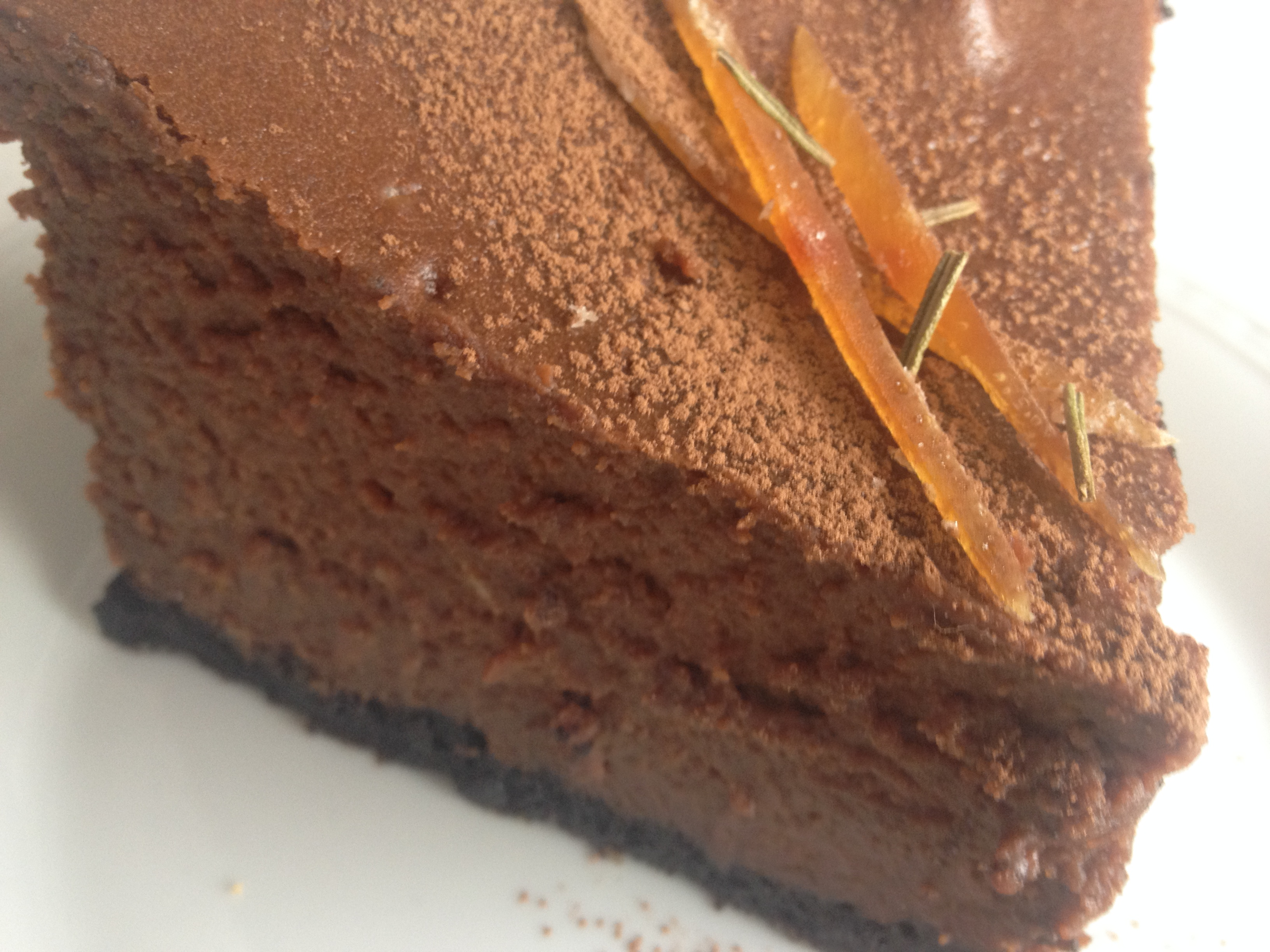 Cheesecake de Chocolate y Naranja