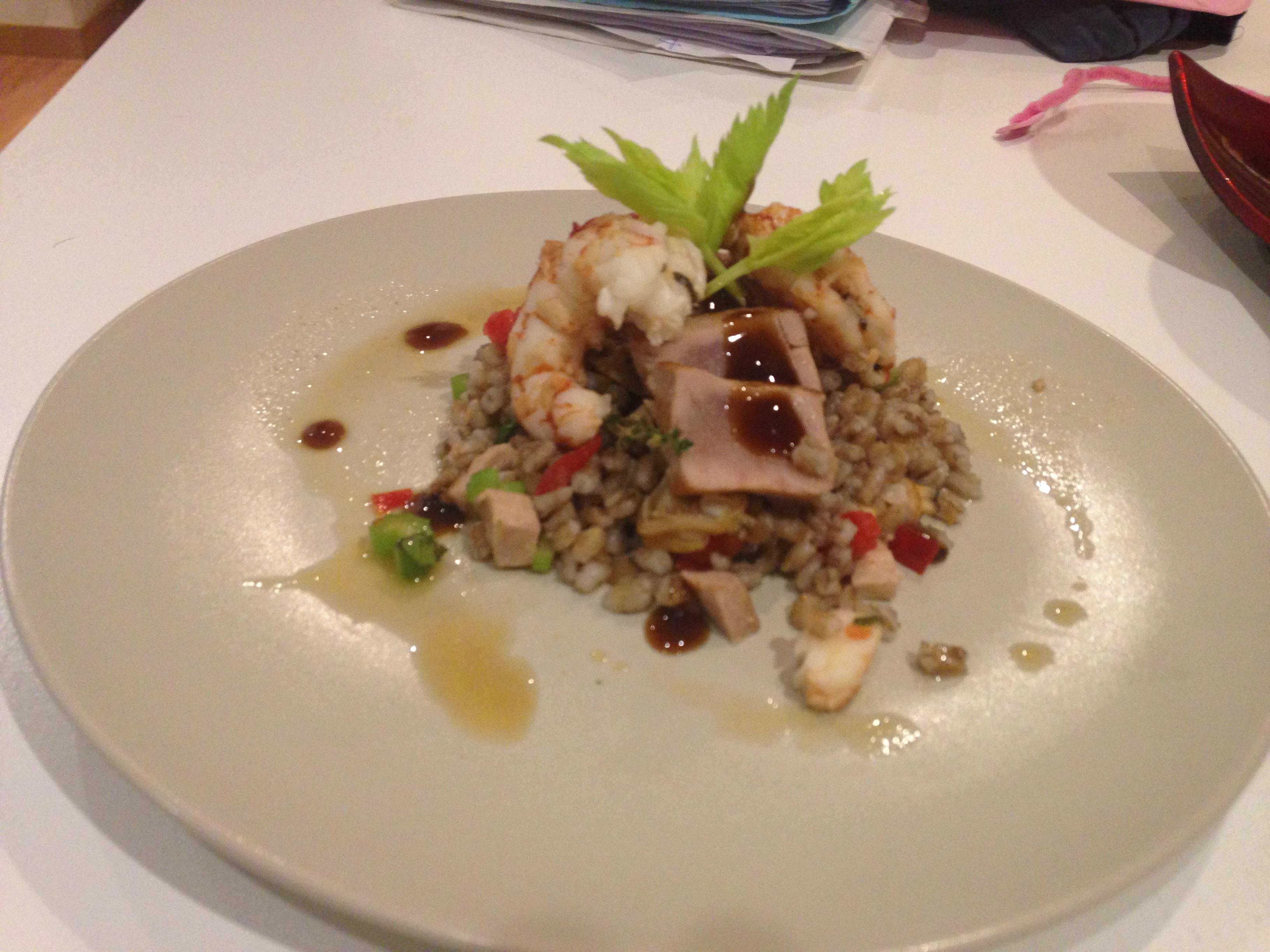 Orzo Marinaio (Cebada con frutos del mar)