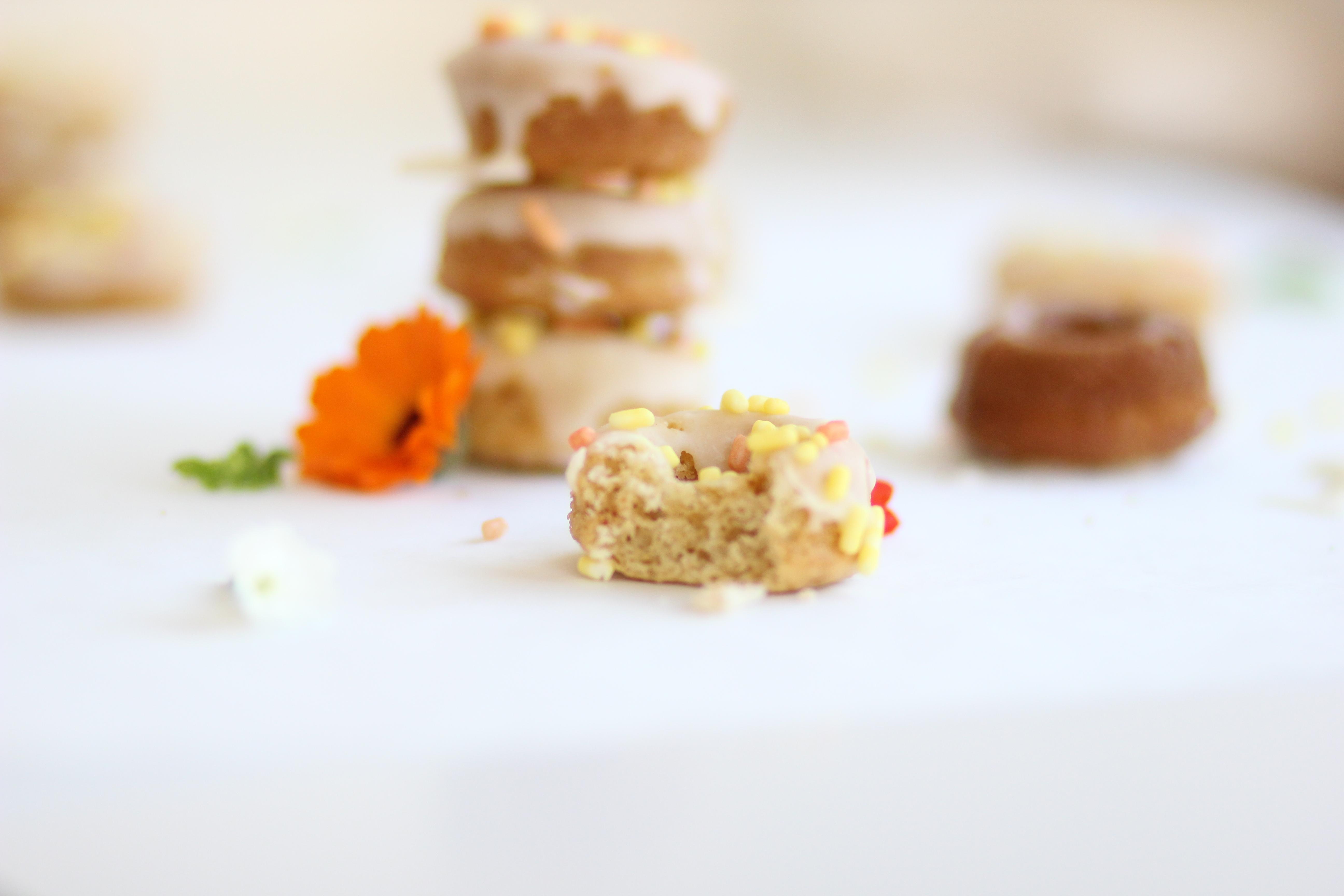 Mini rosquillas de zanahoria