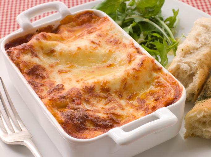 Lasagna de carne de soja