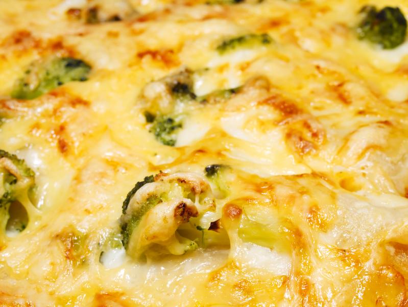 Lasaña de brócoli y coliflor