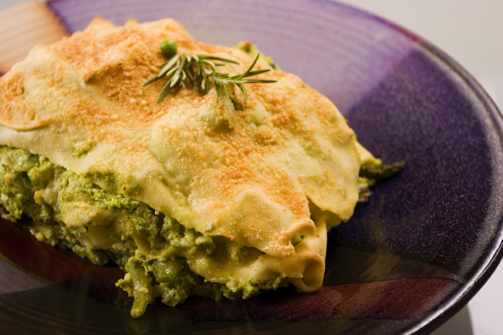 Lasagna de Brócoli y coliflor