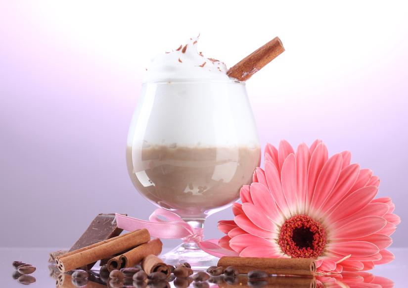 Licor de chocolate caliente