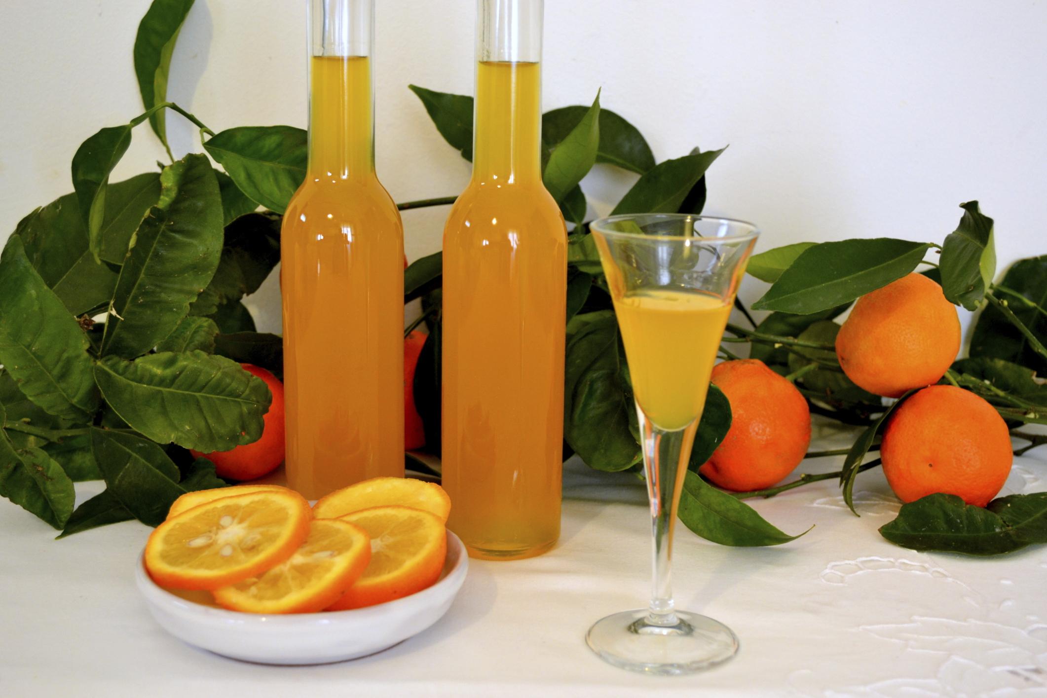 Licor de naranjas y miel