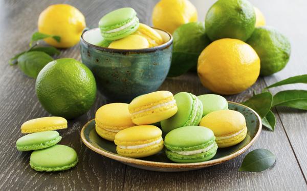Macarons de lima y limón
