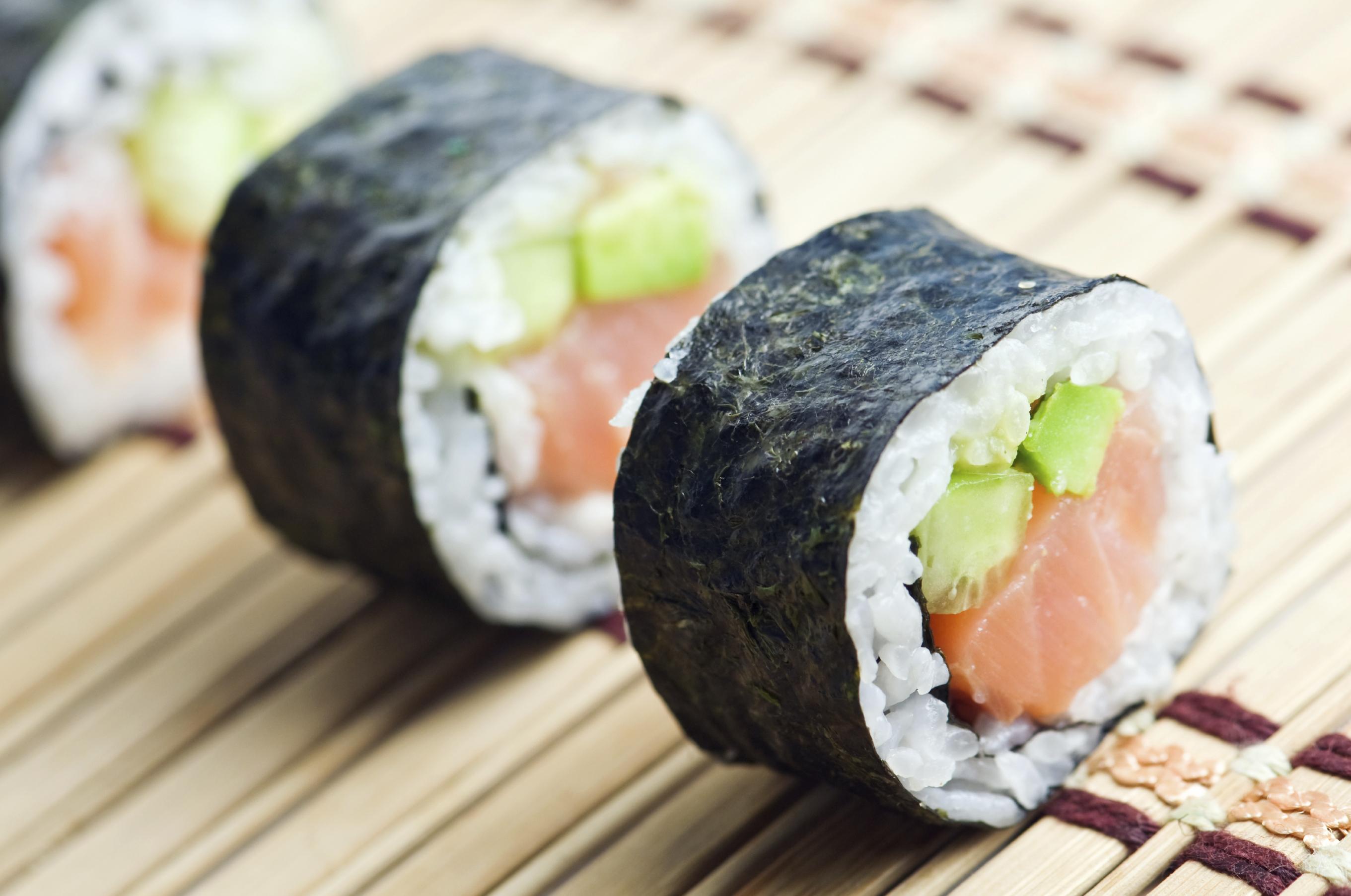 Makisushi de salmón ahumado