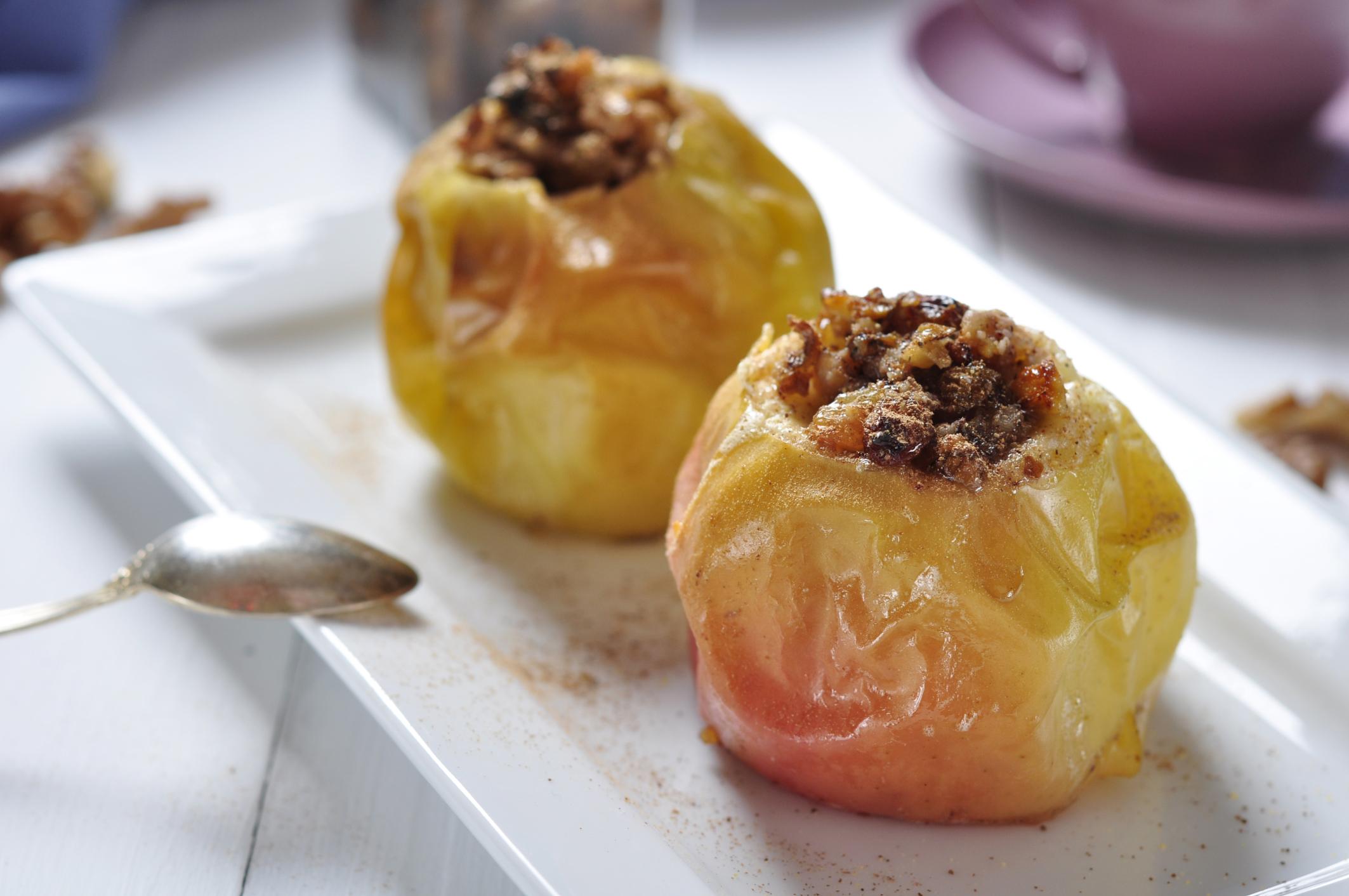 Manzanas especiadas con pasas