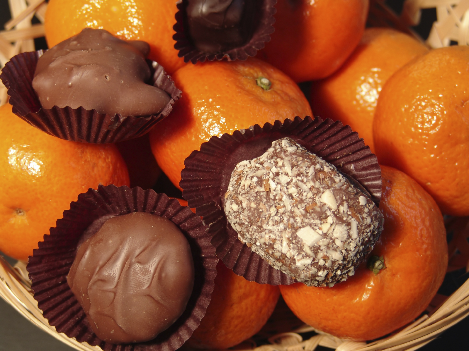 Masitas novedosas de frutilla y chocolate