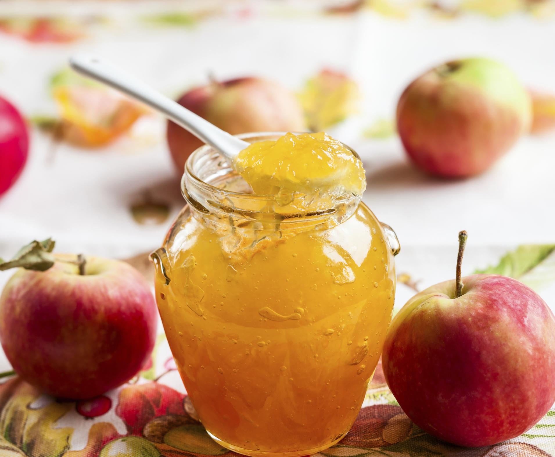 Mermelada de manzanas con jengibre
