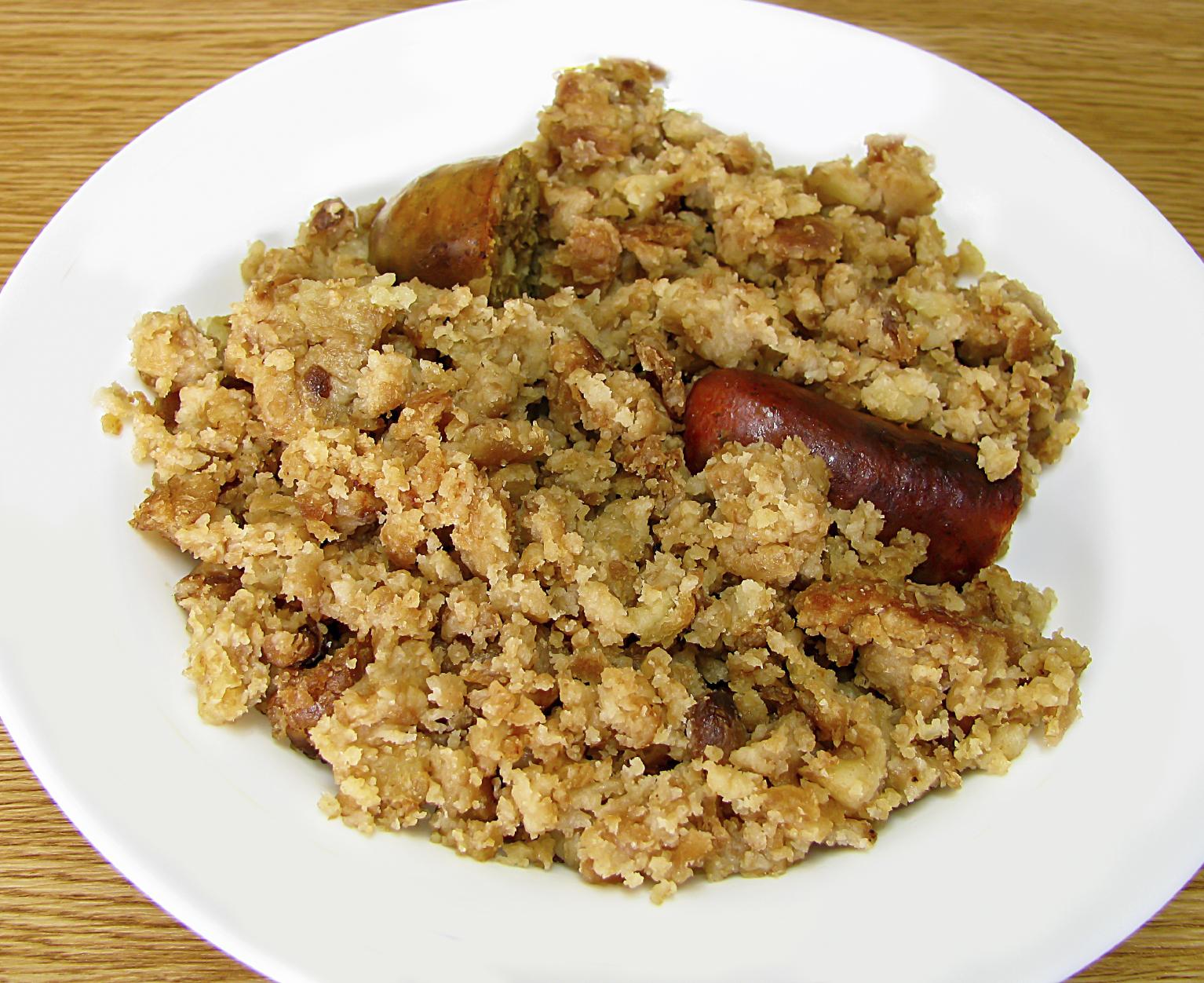 Migas con Panceta y Chorizo