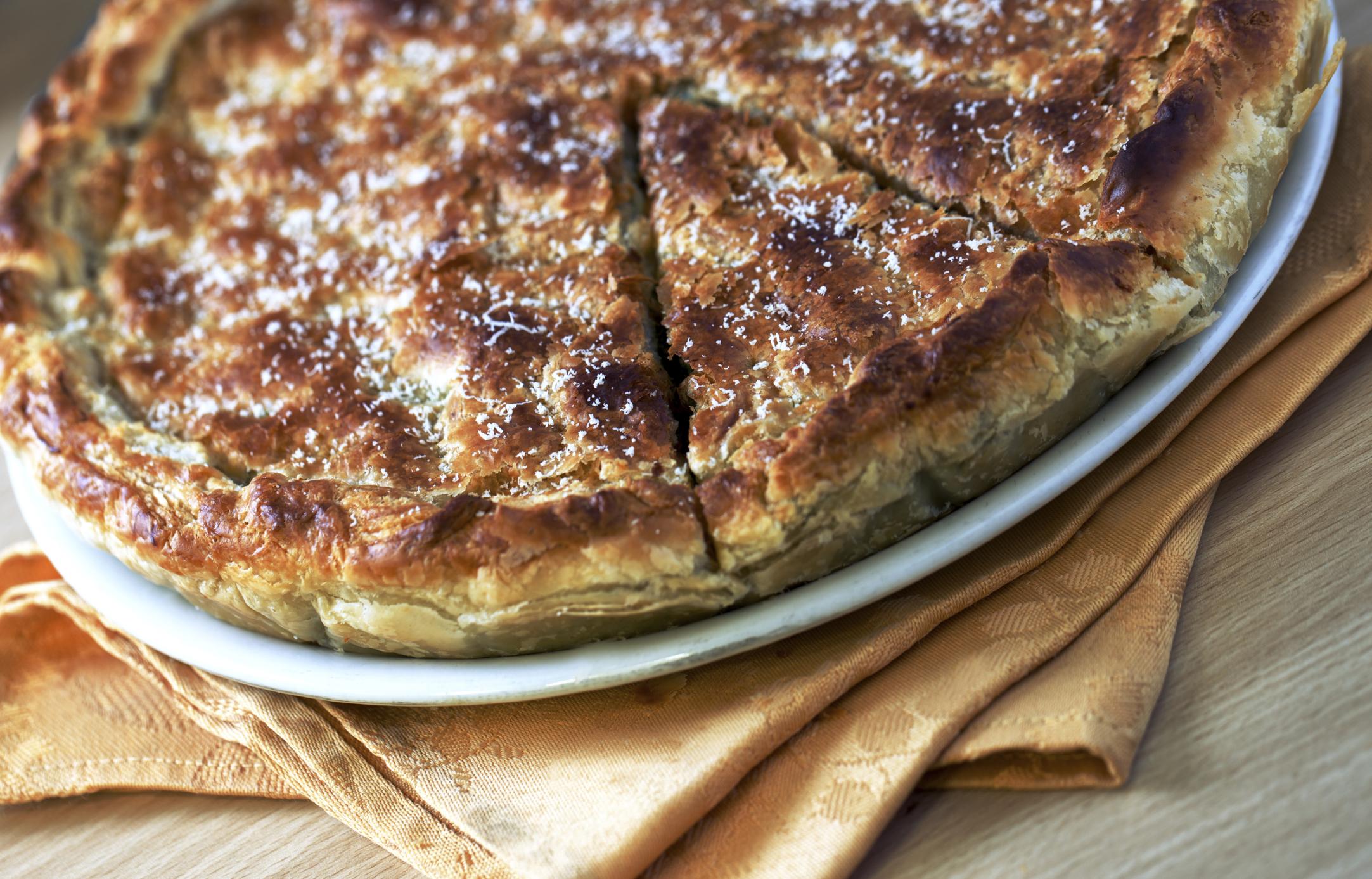 Pastel de queso Cheddar