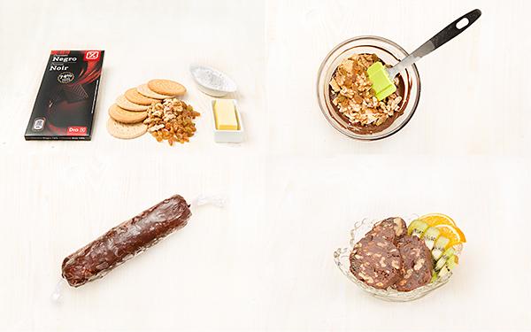 Trampantojo de morcilla (de chocolate)