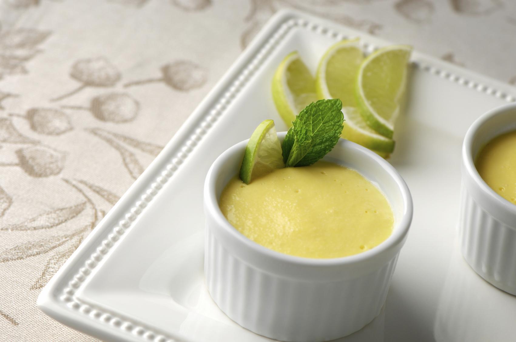 Mousse de limón saludable