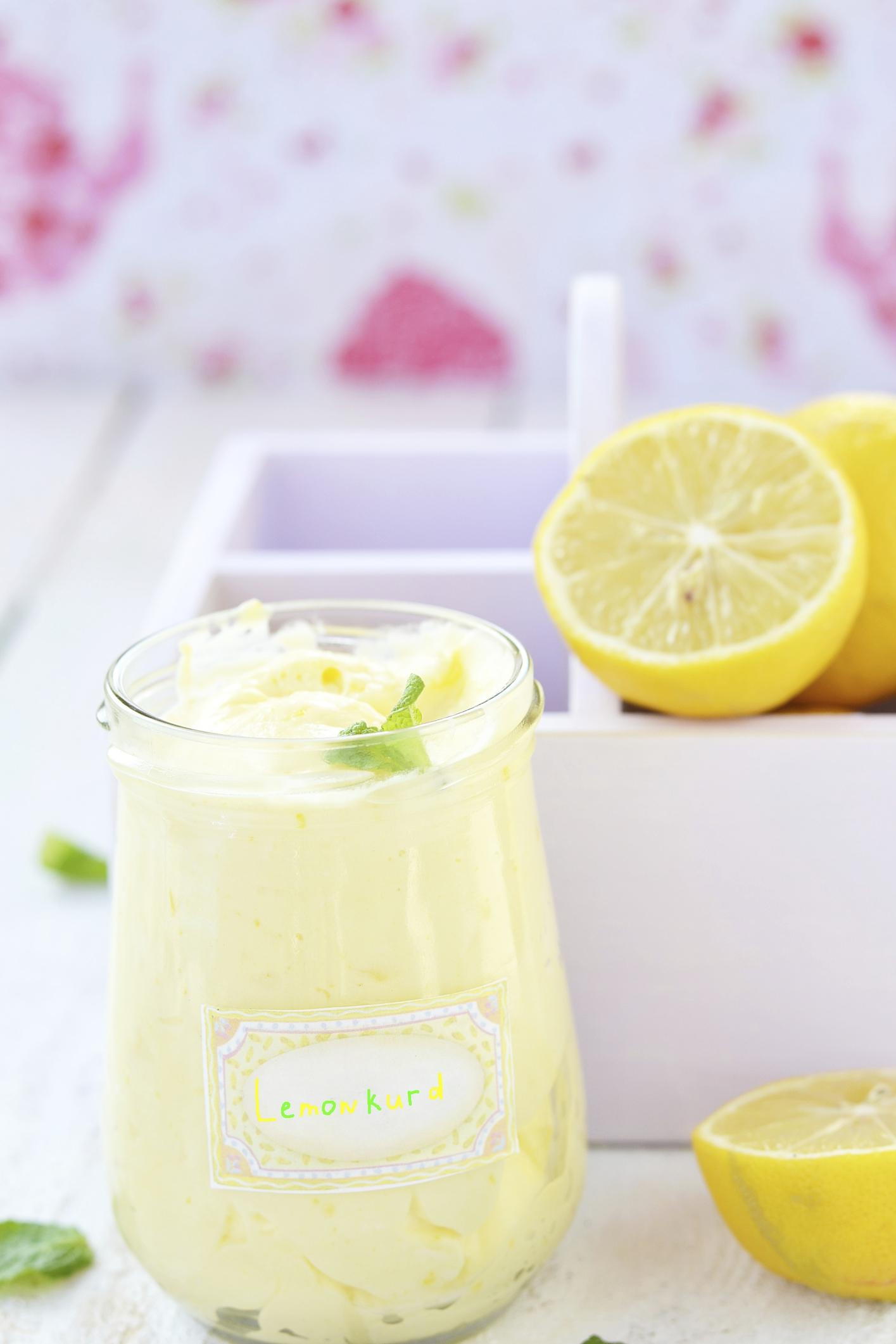 Mousse de limón con yogur griego