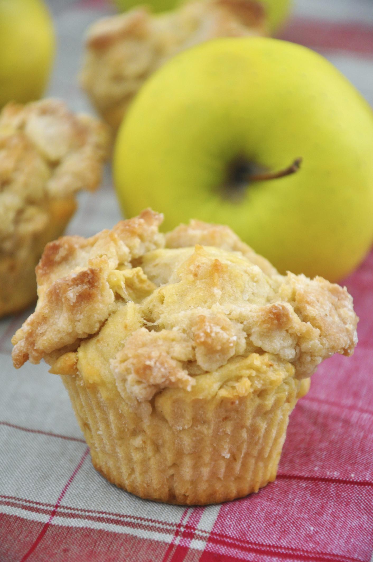 Muffin con crumble de manzana