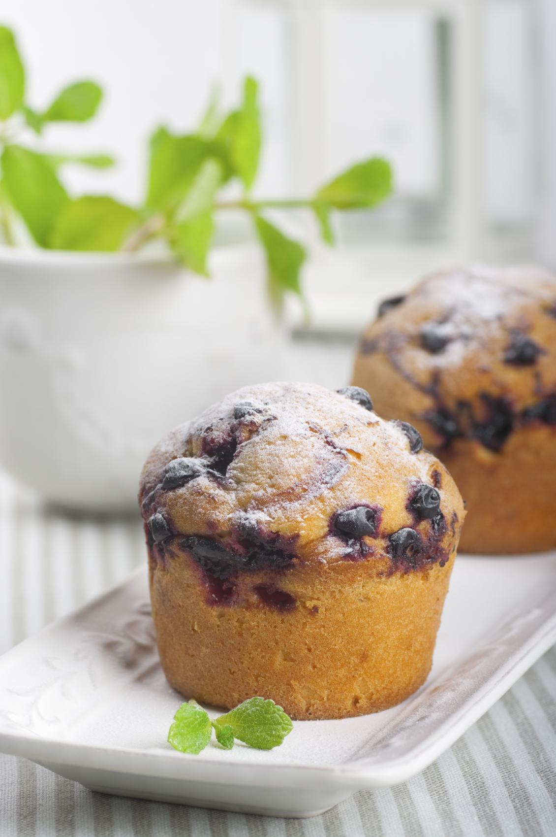 Muffin con pasas de uvas al ron