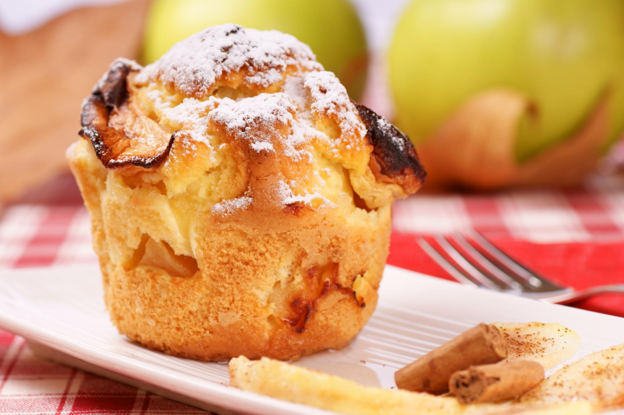Magdalenas de manzana azucarada