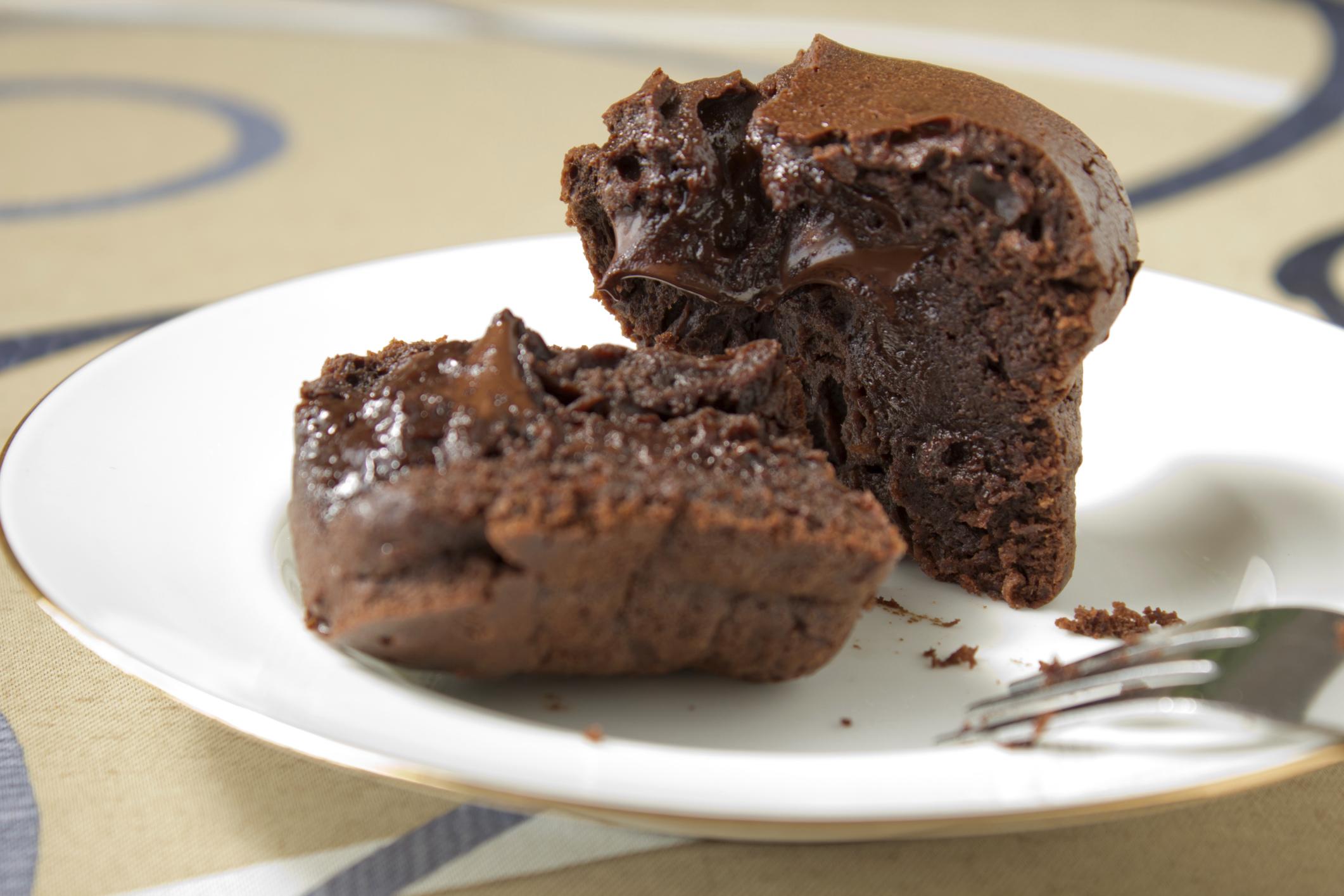 Muffins de chocolate puro