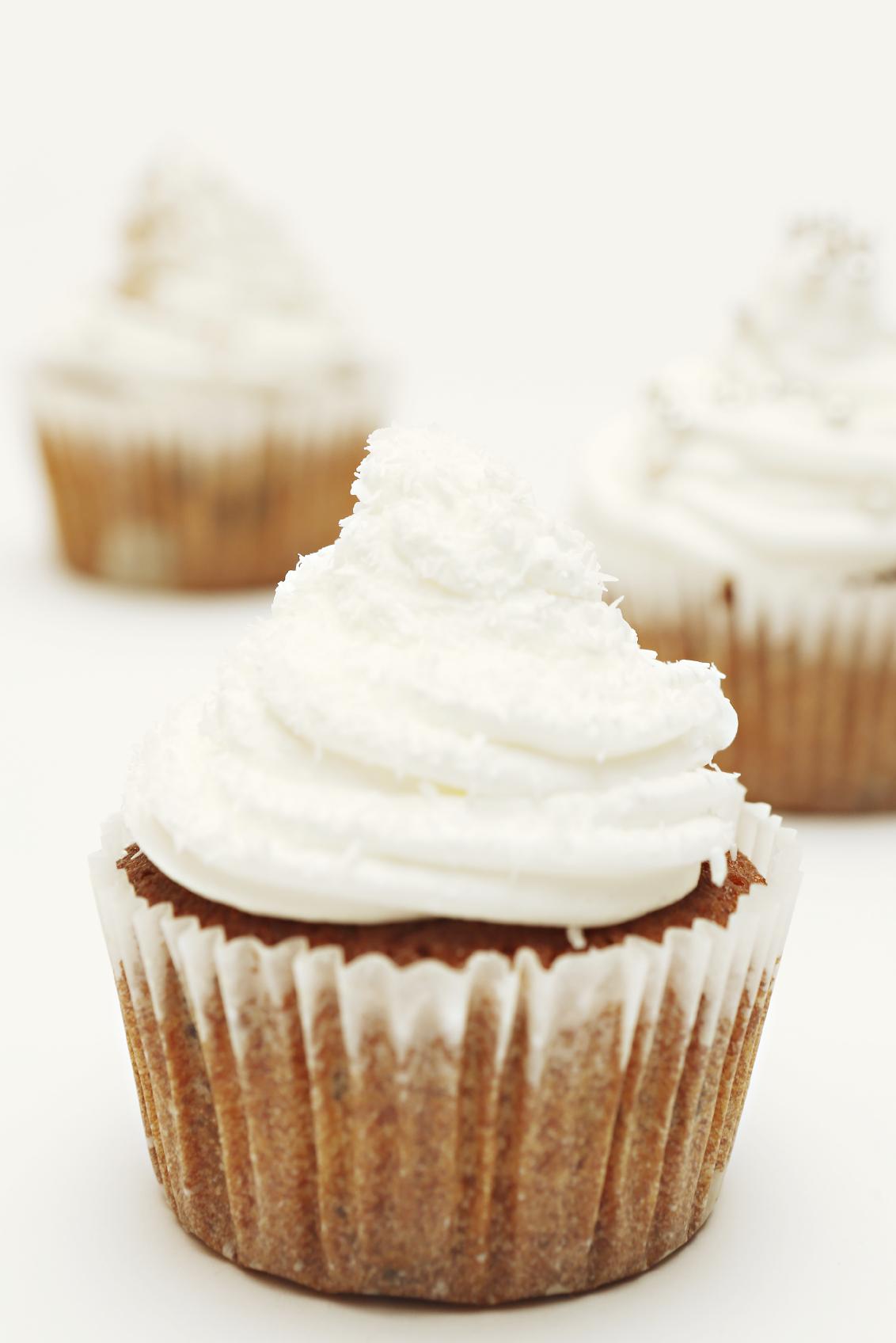 Muffins con cobertura de queso crema