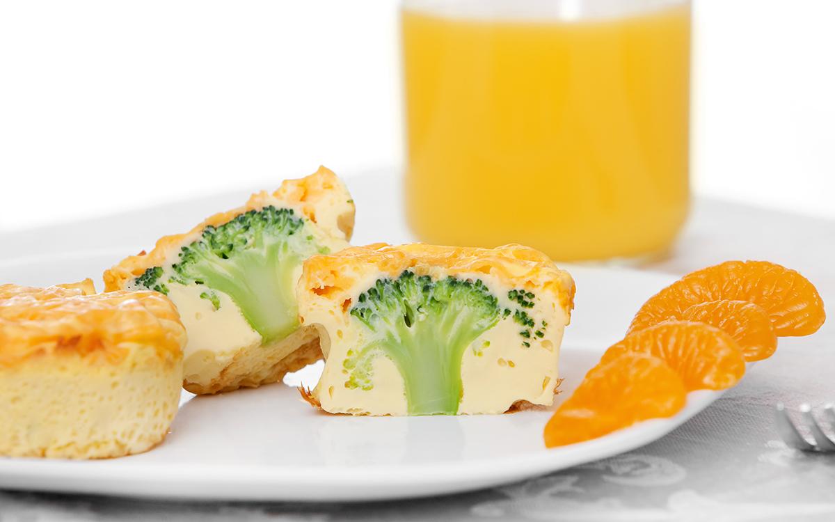 Muffins de huevo y brócoli