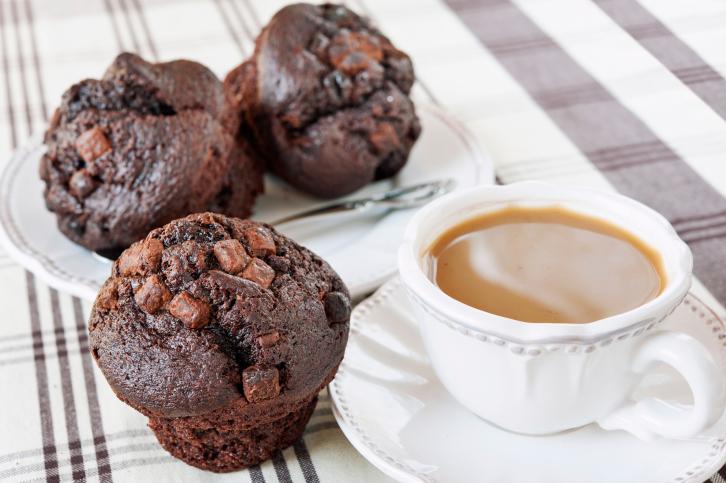 Muffins con triple chocolate