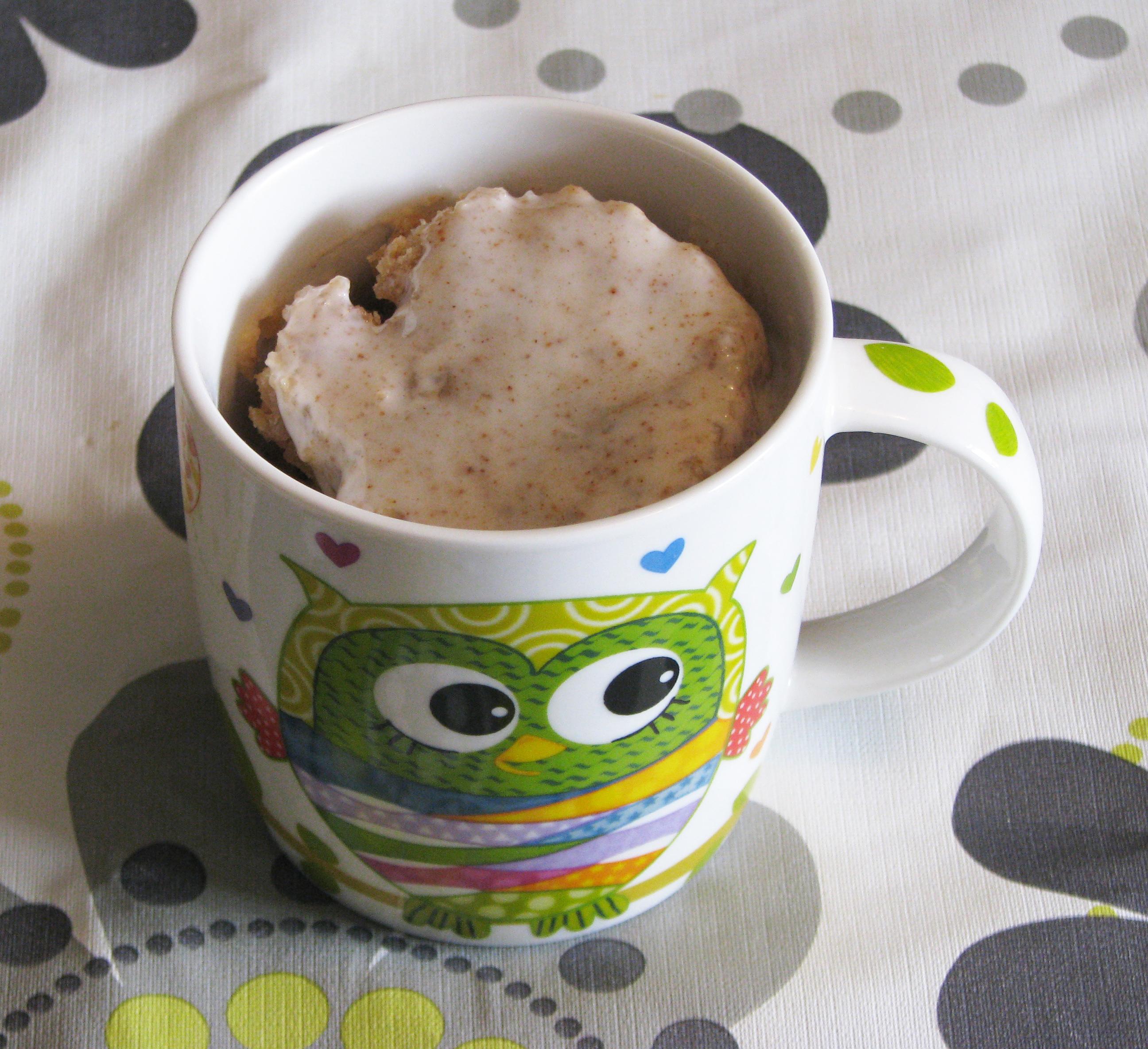 Mug cake de canela