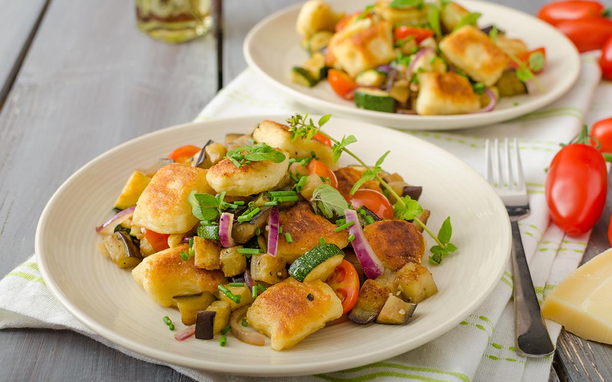Ñoquis con verduras