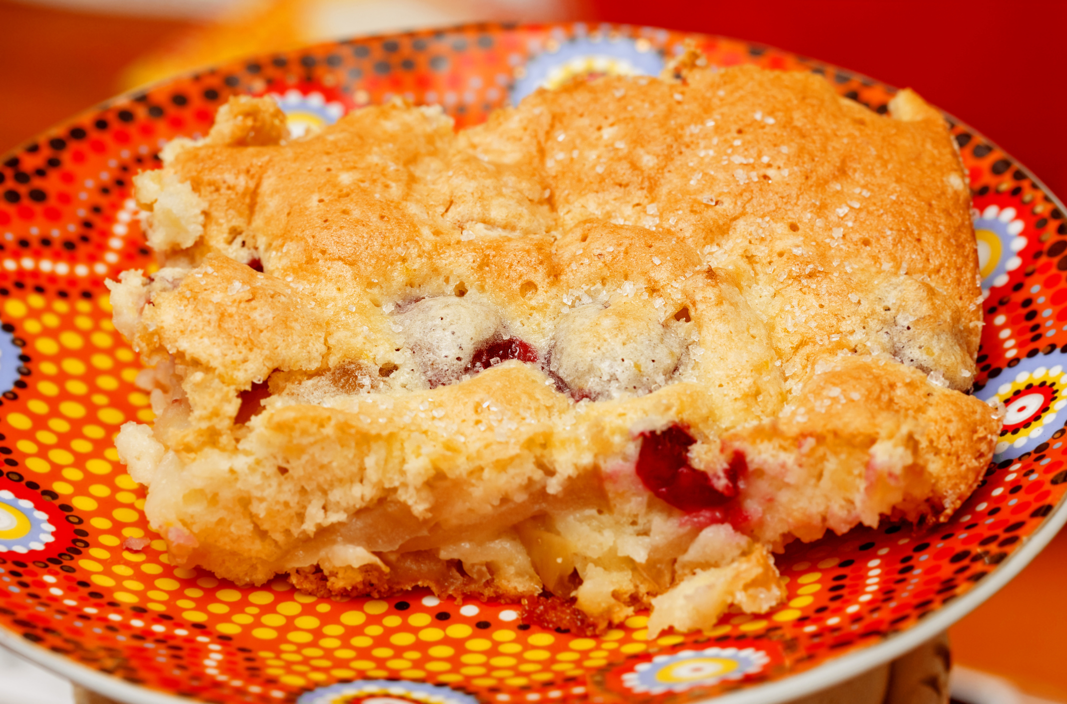 Pan dulce con cerezas