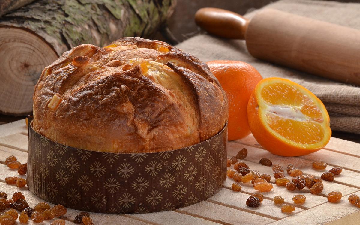 Panettone con naranja y pasas
