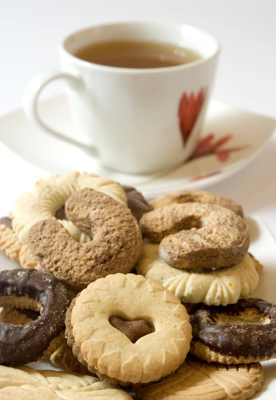 Pastas de té con dos tipos de harina