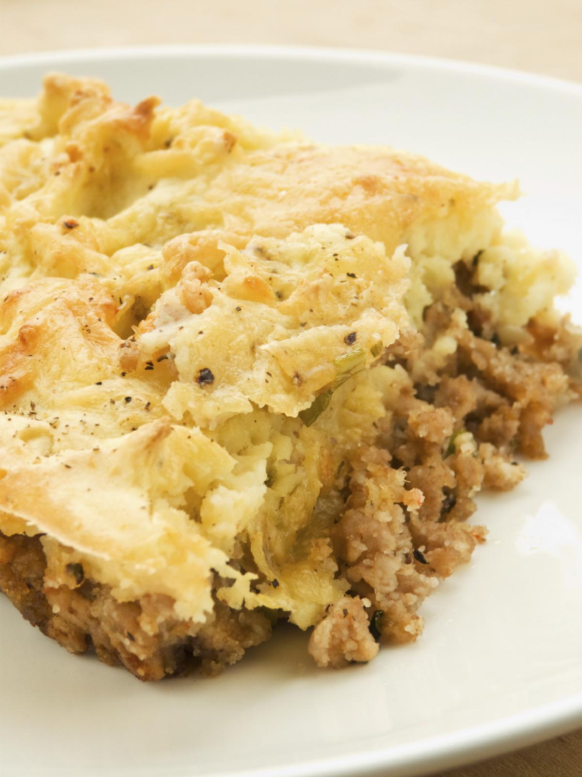 Pastel  cremoso de patata y carne