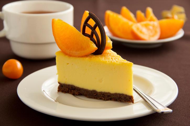 Pastel de naranja y queso