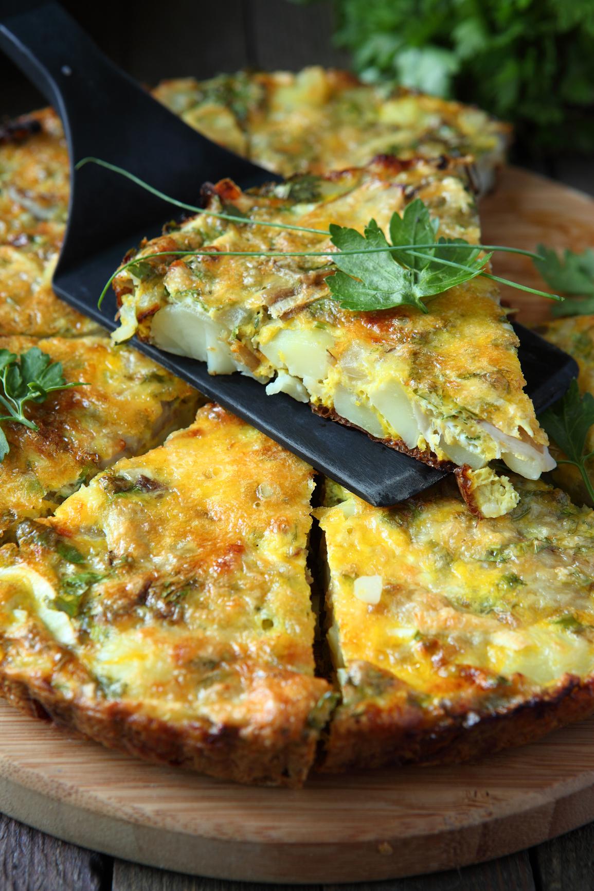 Frittata de verduras y huevos al horno