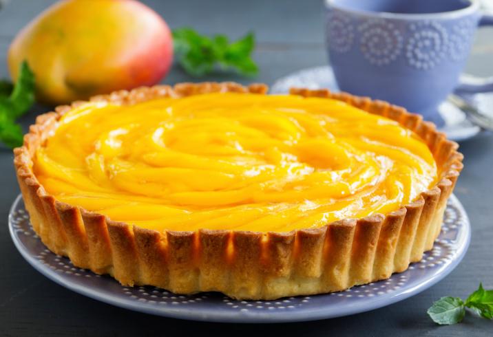 Pastel frío de mango