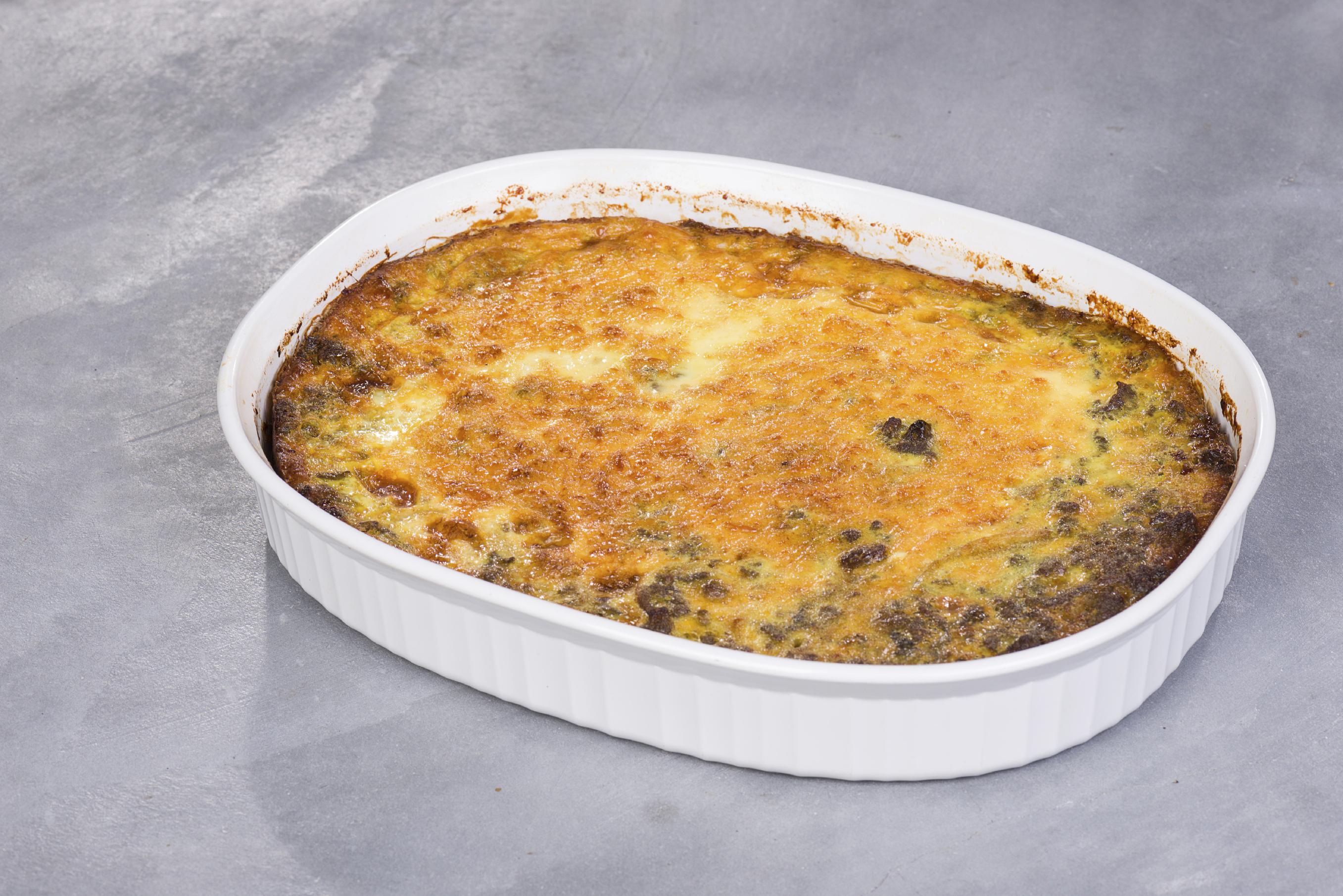 Pastel de jamón cocido extra y acelgas
