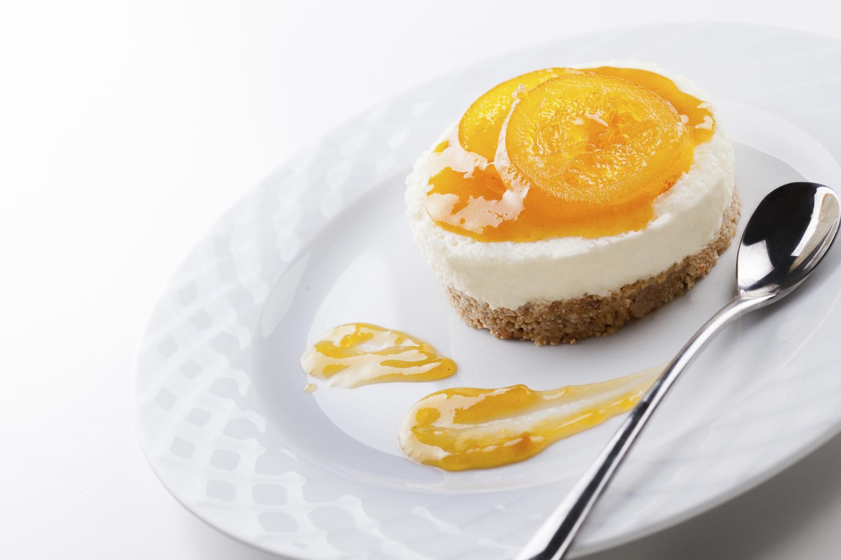 Pastel de queso y mango