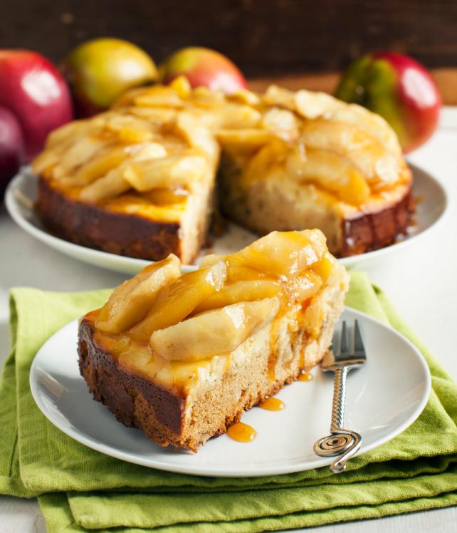 Pastel de requesón y manzana